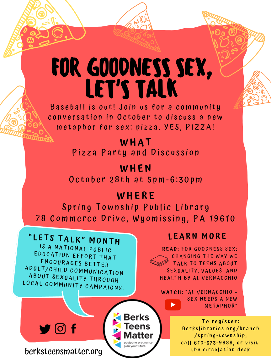 """""""For Goodness Sex, Let's Talk"""" at Spring Township Public Library"""